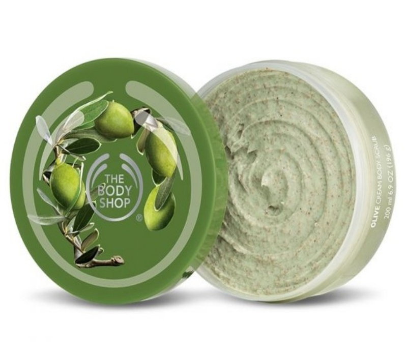 olive body scrub the body shop feature