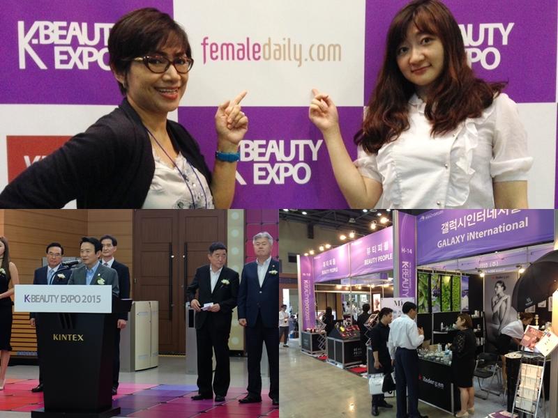 Inilah sekilas suasana pembukaan, banner berlogo FD dan acara K-Beauty Expo 2015, Korea