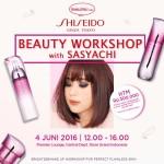 Mau Ikutan Beauty Workshop Bersama Sasyachi dan Shiseido? Yuk, Daftar!