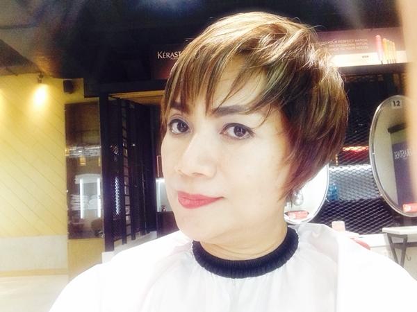 May May Salon After Cut and Coloring Hair