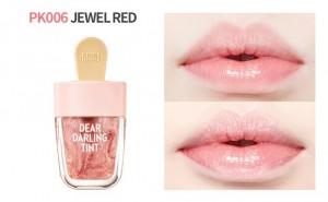 jewel red lip tint ice cream