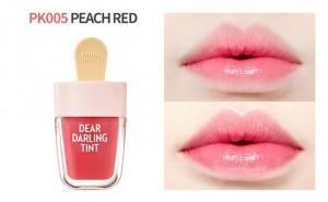 peach red lip tint ice cream