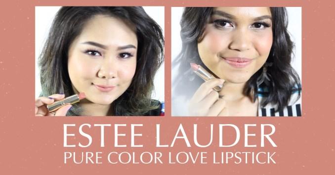 Estee Lauder Pure Color Love Lipstick  FD Swatch Sister