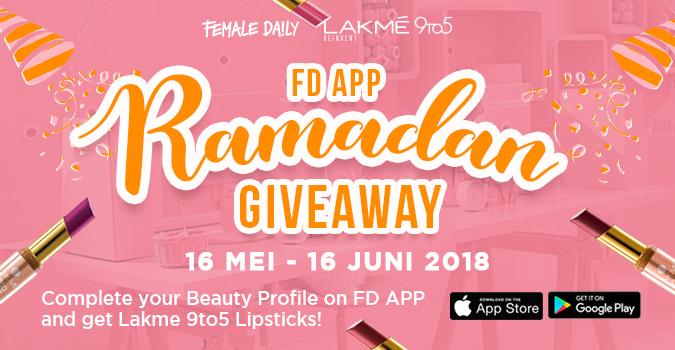FD App Ramadan Giveaway Bagi-Bagi Lipstick!