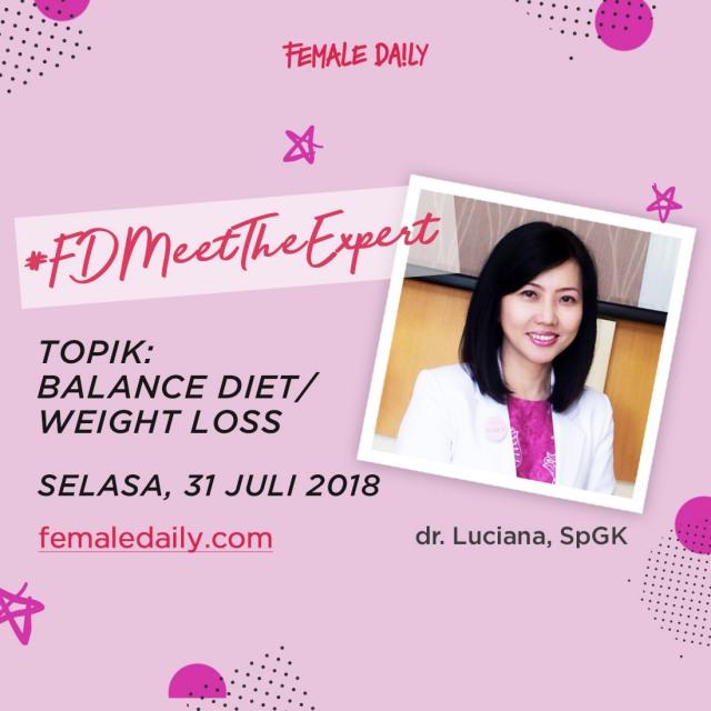 FD Meet The Expert -  dr. Luciana SpGK instagram
