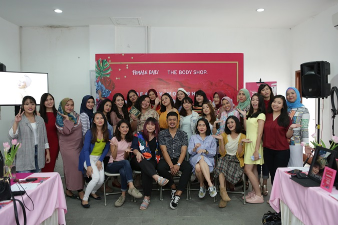 Serunya #YourColourCrush Beauty Workshop bersama Female Daily & The Body Shop Indonesia