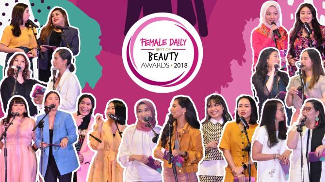 Highlight Acara Female Daily Best of Beauty Awards 2018